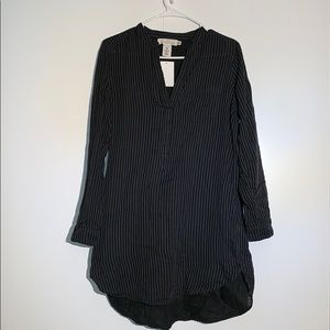 H&M Black Striped Tunic Dress